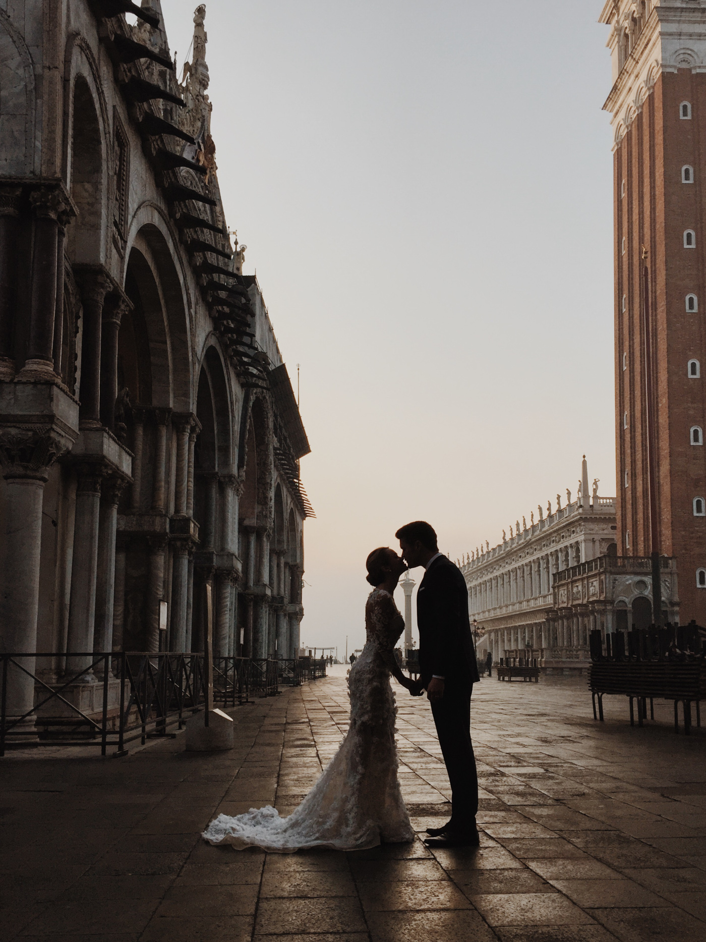 Venice wedding in St Marks Square by Koby Brown