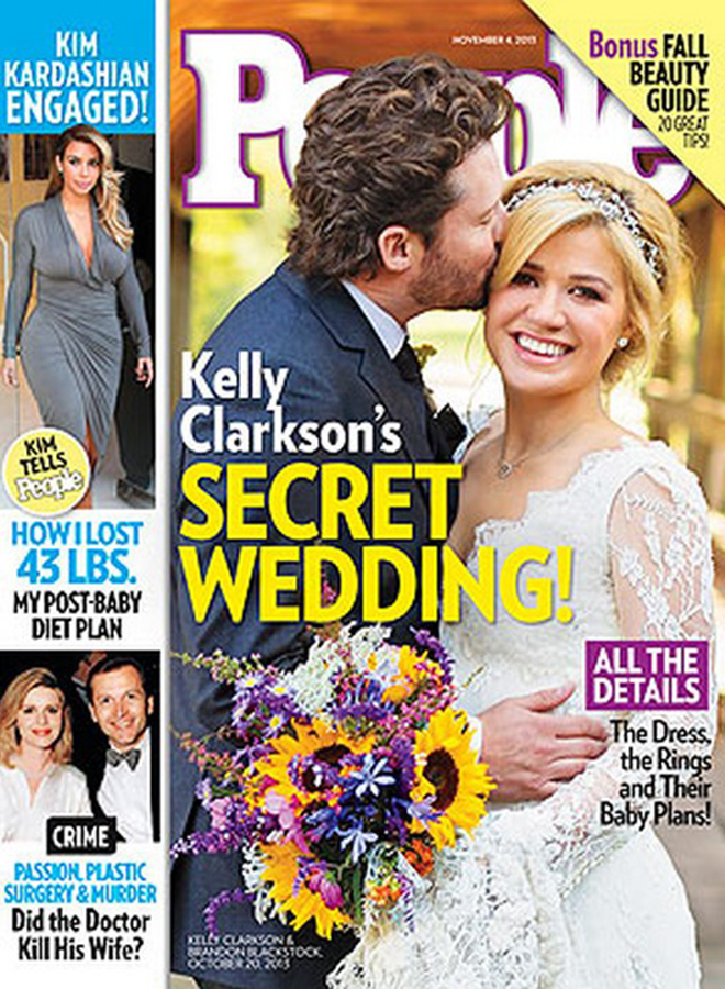 Kelly Clarkson & Brandon Blackstock Wedding by Koby & Elizabeth Brown in People Magazine
