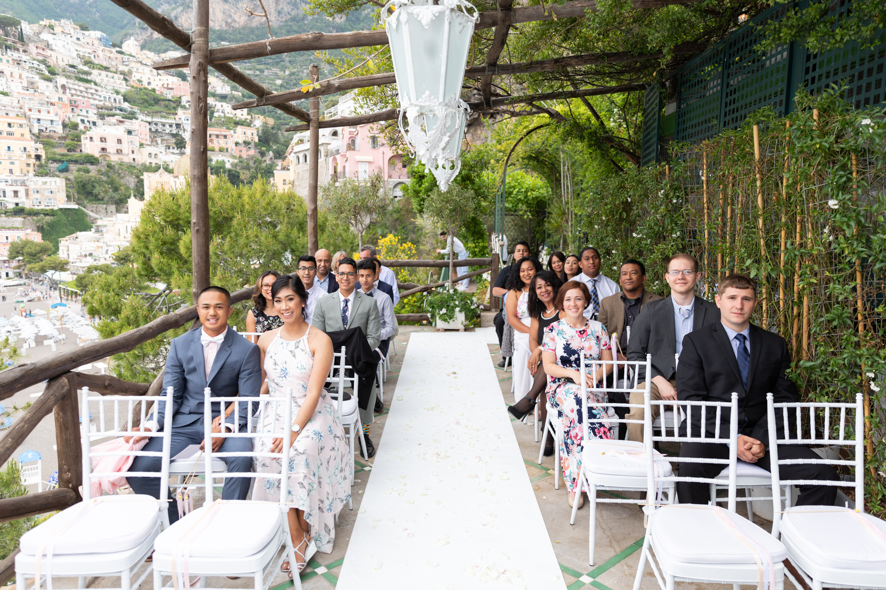amazing wedding ceremony views at Rada Positano