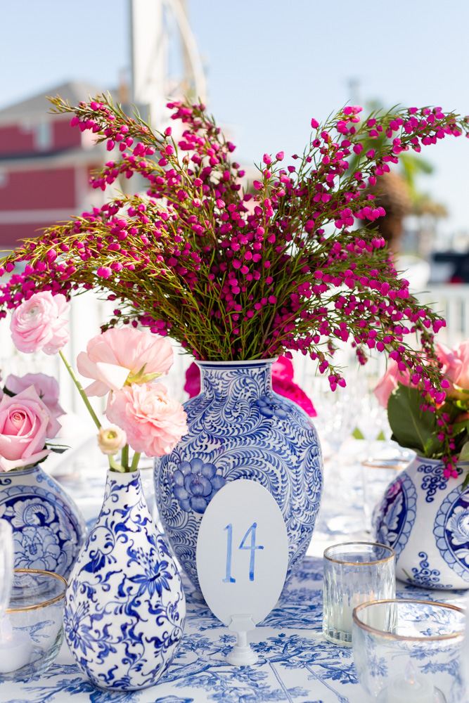 table numbers and wedding decor