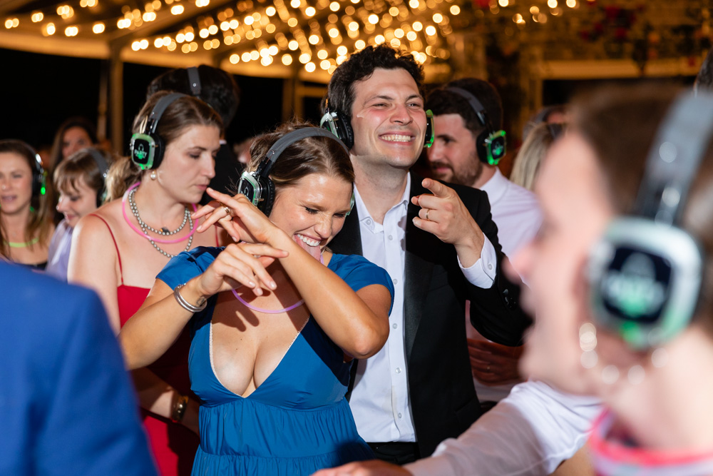 late night silent disco to keep the party going